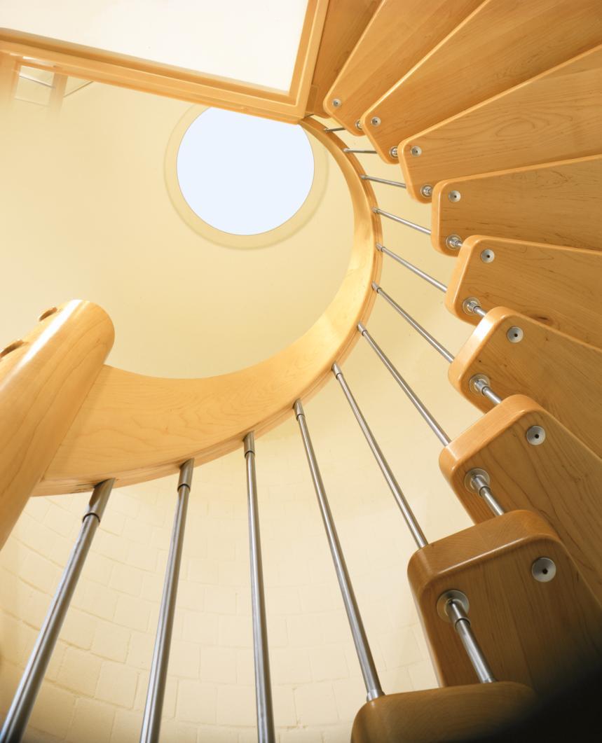 escalier courbe. Black Bedroom Furniture Sets. Home Design Ideas