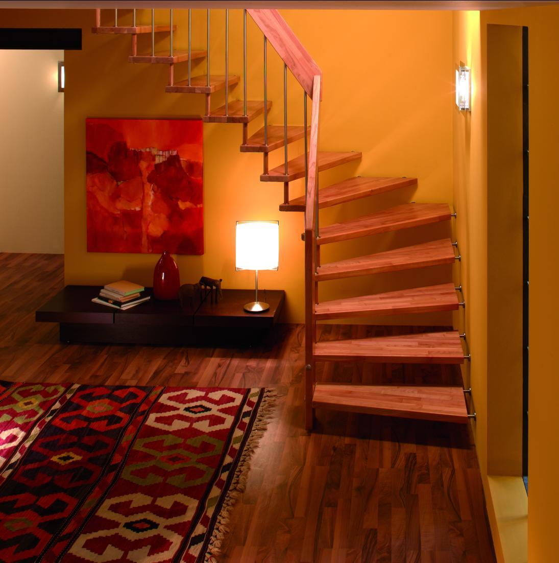 14 Staircases Design Ideas: ESCALIER SUSPENDU
