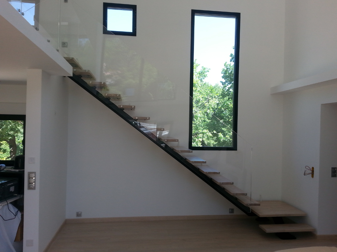 Escalier a limon central - Architectuur escalier ...
