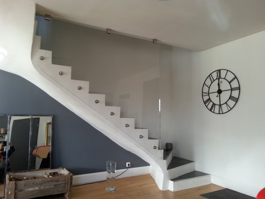Nos clients for Rampe moderne d escalier